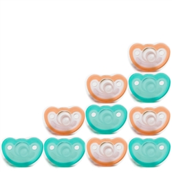 Photo of JollyPop Pacifier 10 Pack 3m+ Mix Teal-Orange