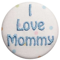 A-I Love Mommy Blue on Dots