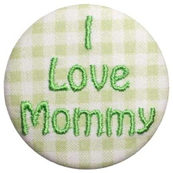 A-I Love Mommy Green on Green Gingham
