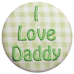 B-I Love Daddy Green on Green Gingham