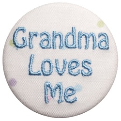 Grandma Loves Me Blue on Dots