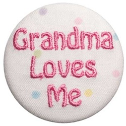 Grandma Loves Me Pink on Dots