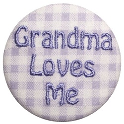 Grandma Loves Me Lavender on Lavender Gingham