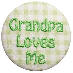Grandpa Loves Me Green on Green Gingham