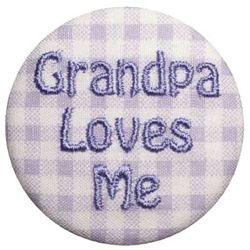 Grandpa Loves Me Lavender on Lavender Gingham