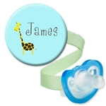Personalized Giraffe Blue Combo