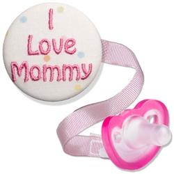 Embroidered I Love Mommy Combo (Blue or Pink)