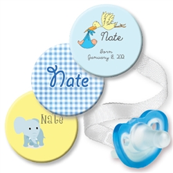 Personalized 3-Pack Blue Stork Combo