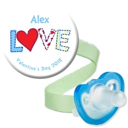 1. Personalized Valentine Combo Blue