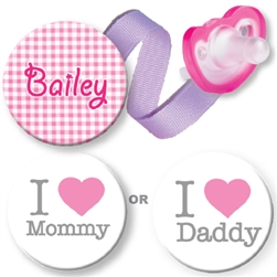 Mommy or Daddy Combo Pink
