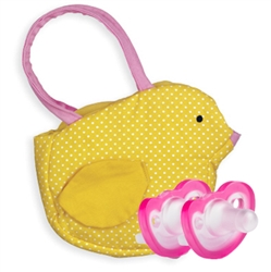 Photo of Goody Bag Chick with 2 JollyPop Pacifiers