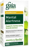 Mental Alertness, 60 caps by Gaia Herbs