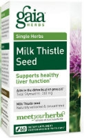 Milk Thistle Seed, 60 caps by Gaia Herbs