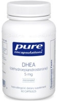 DHEA 5 mg (micronized), 60 vcaps by Pure Encapsulations