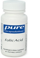 Folic Acid, 800 mcg 60 vcaps by Pure Encapsulations