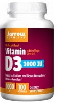 Vitamin D3 1000 IU, 100 gels by Jarrow Formulas