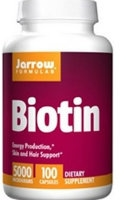Biotin 5 mg, 100 caps by Jarrow Formulas
