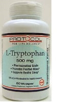 L-Tryptophan 500 mg, 60 vcaps by Protocol