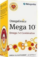 OmegaGenics Mega 10, 60 gels by Metagenics