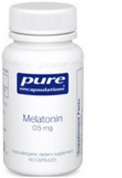Melatonin 0.5 mg, 60 vcaps by Pure Encapsulations