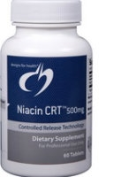 Niacin CRT 500mg, 60 Tabs by Designs For Health