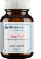 Zinc A.G., 60 tablets by Metagenics