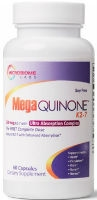 MegaQuinone is a high-dose, 100% soy-free formulation of natural vitamin K2 (MK-7) formulated for optimal bone, nerve, and heart health.