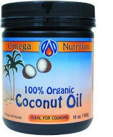 Coconut Oil, 16 oz by Omega Nutrition