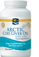 Arctic Cold Liver Oil, 180 lemon gelcaps by Nordic Naturals