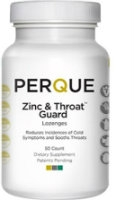 Zinc & Throat Guard, 50 lozenges by Perque