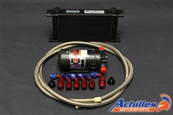 Achilles Motorsports Differential Oil Cooler Kit with Setrab Cooler