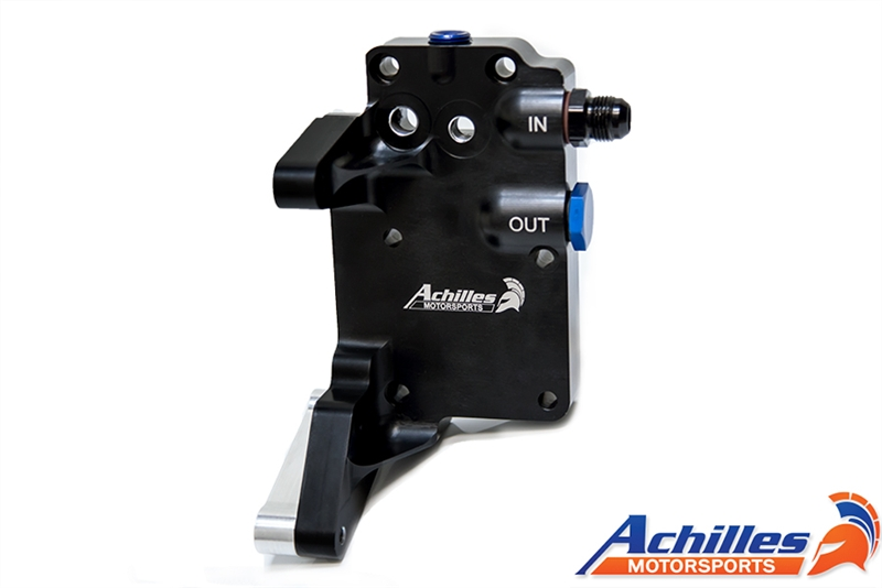 Achilles Motorsports Billet Oil Filter Block Off Plate
