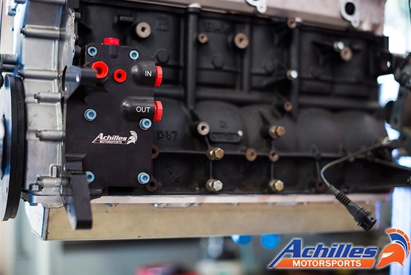 Achilles Motorsports Billet Oil Filter Block-Off plate & Relocation Housing  - BMW M50, M52, M52TU, M54, S50, S52, Euro S50, S54