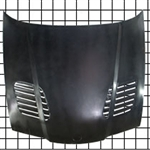 MA Shaw BMW E36 2DR Carbon Fiber Hood - GTR Vented Style