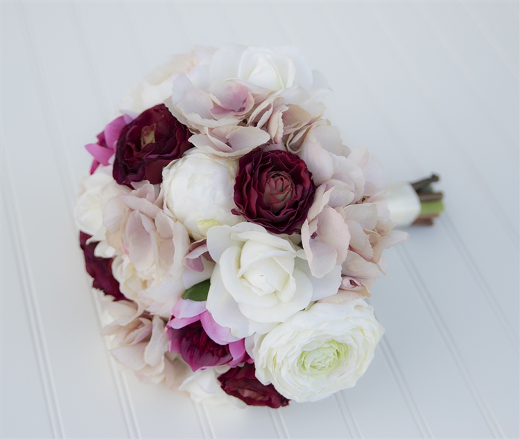 Peonies roses ranunculus blush off white and magenta burgundy peonies roses ranunculus blush off white and magenta burgundy bouquet real touch silk wedding bouquet mightylinksfo