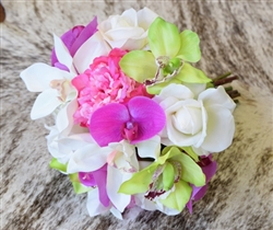 Natural Touch Peonies, Orchids & Roses Bouquet