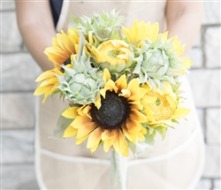 Sunflower Burst Soft Touch Bouquet - Sunny Side Silk Wedding Bouquet