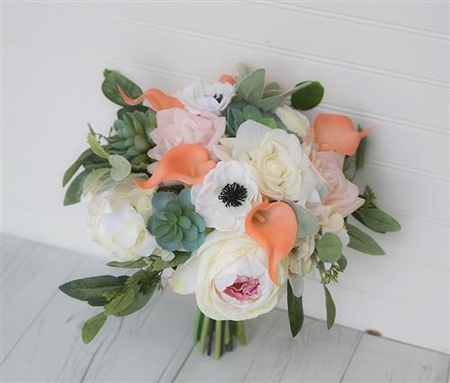starts coral garden rose bouquet - Blush Garden Rose Bouquet