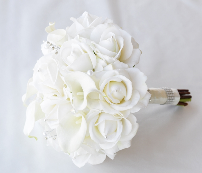 Natural touch off white roses and calla lilies silk wedding flower natural touch off white roses and calla lilies silk wedding flower bouquet mightylinksfo