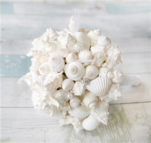 Natural Touch Off-White Roses & Brooch Jewels