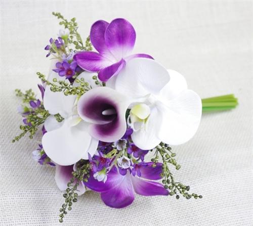 Purple Natural Touch Orchids Bouquet