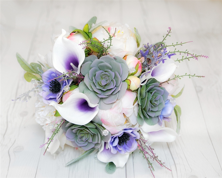 Boho Rustic Woodlands Theme Bouquet Made With Natural Touch