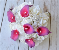 Purple Lavender Natural Touch Callas and Jewels Bouquet