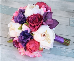 Natural Touch Purple Roses & Peonies Bouquet