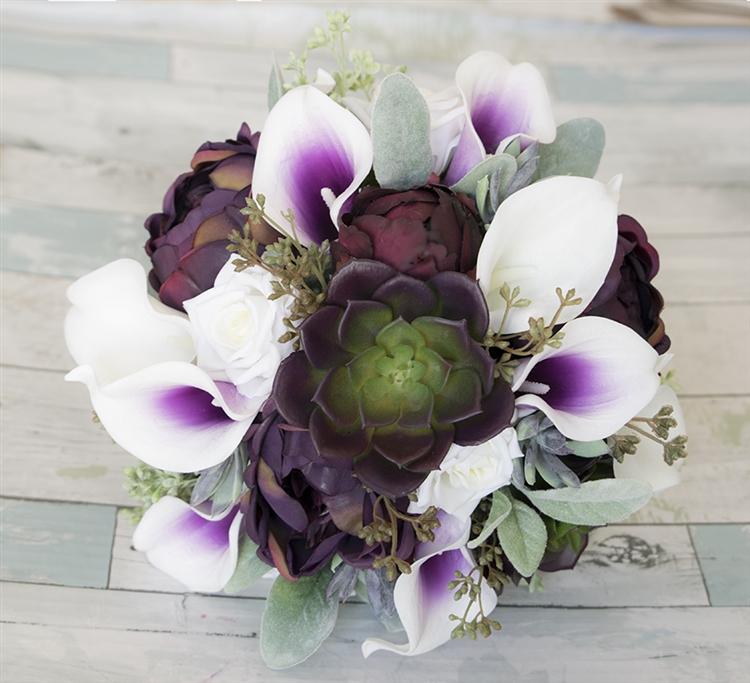 A Gorgeous Natural Touch Plum & Purple Mix. Succulents, Purple Heart ...