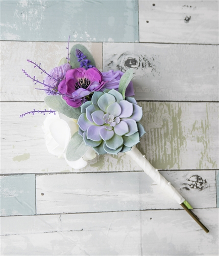 Dream Purple Succulent Anemone And Roses Real Touch Flowers Bouquet