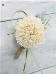Real Touch Preserved Sola Sprays Boutonniere in Any Color  - Elegant Silk Wedding Boutonniere