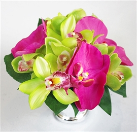Natural Touch Orchids Centerpiece - Your Colors!