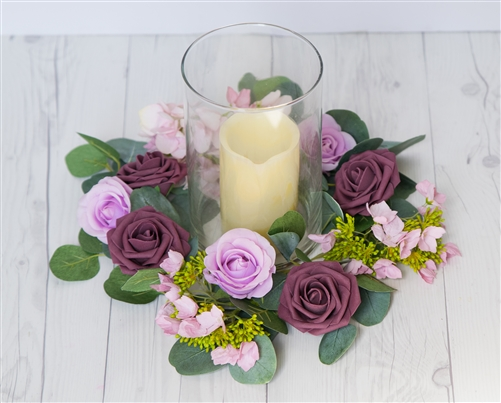 Roses, Orchids and Hydrangeas Classic and Elegant Centerpiece Arrangement