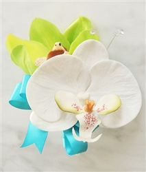 Real Touch Tropical Orchid Corsage in Any Color